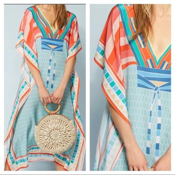 Anthropologie Dresses & Skirts - New! Anthropologie Geometric Caftan Maxi Dress